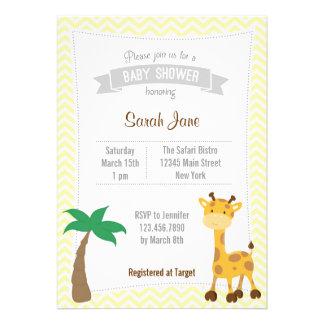 O chá de fraldas animal dos girafas do safari conv convite
