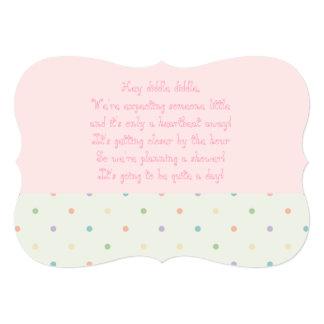 O chá de fraldas convida - a menina convite 12.7 x 17.78cm