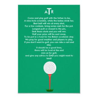 O chá de fraldas convida para a excursão do golfe convites