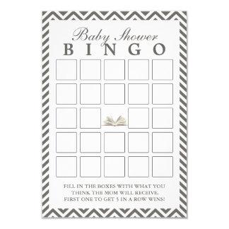 O chá de fraldas traz cartões de um Bingo de Convite 8.89 X 12.7cm