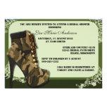 O chá de panela militar da camuflagem feita sob en convite personalizados