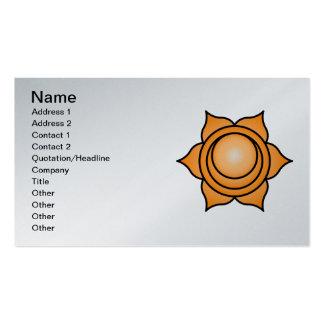 O Chakra sacral Modelo Cartões De Visita