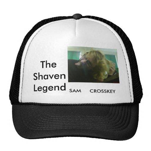 O chapéu barbeado da legenda bone