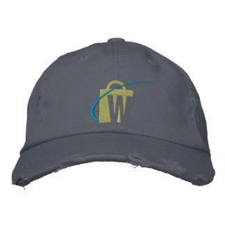 O chapéu bordado o mais grande de tipo de tela de boné bordado