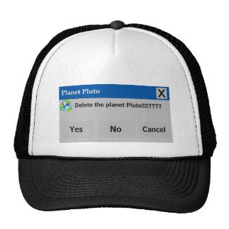 O chapéu de Pluto do planeta Boné