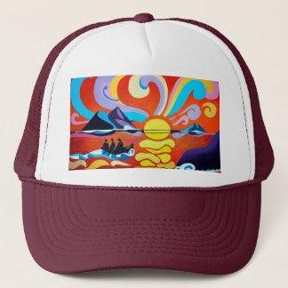 O chapéu do camionista da escala da ilha de boné