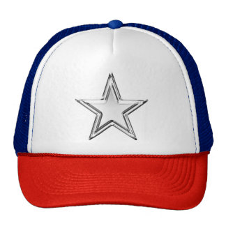 O chapéu do camionista da prata da estrela do boné