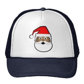 O chapéu do camionista preto do papai noel boné