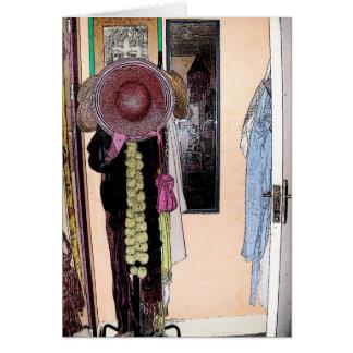 O chapéu do Patsy & o lenço - cartão de letra
