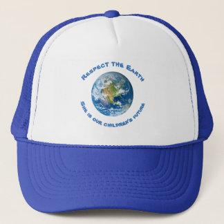 O chapéu futuro das crianças da terra do planeta boné