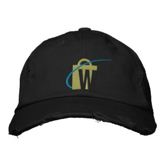 O chapéu preto bordado o mais grande de tipo de boné bordado
