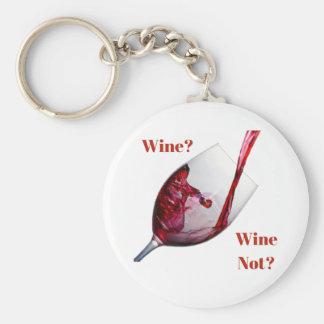 O chaveiro de amante de vinho - vinho? Vinho não?