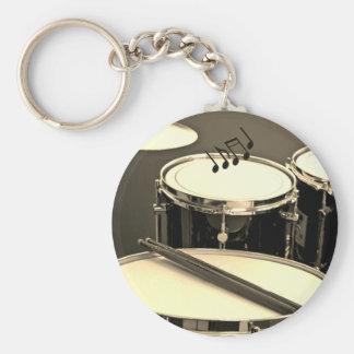 O chaveiro do baterista que caracteriza