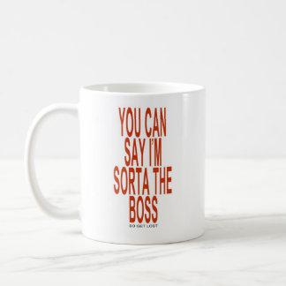 O chefe caneca de café