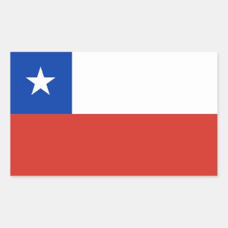 O Chile/bandeira chilena Adesivos Em Forma Retangular