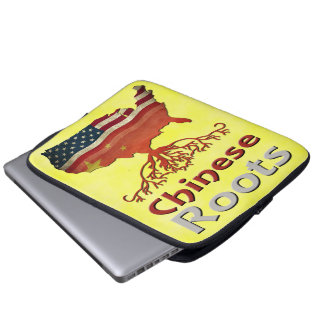 O chinês americano enraíza a bolsa de laptop capa de notebook