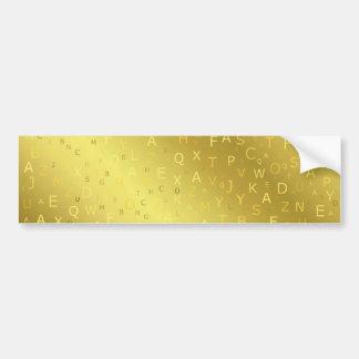 O chique brilhante dourado das letras de teste adesivo para carro