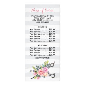 O chique Scissors a tabela de preços dos rosas das 10.16 X 22.86cm Panfleto
