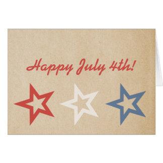 O chique simples Stars o cartão do 4 de julho
