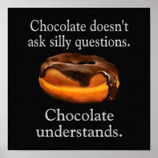 O chocolate compreende -- poster da arte 12 X12
