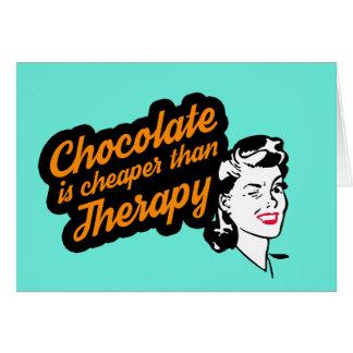 O chocolate é mais barato do que o cartão de