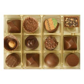 o chocolate é música a minhas orelhas cartão de visita grande