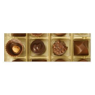 o chocolate é música a minhas orelhas cartão de visita skinny