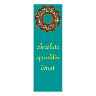 o chocolate polvilha a rosquinha cartão de visita skinny