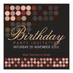 O chocolate pontilha o aniversário à moda Invita Convite Quadrado 13.35 X 13.35cm