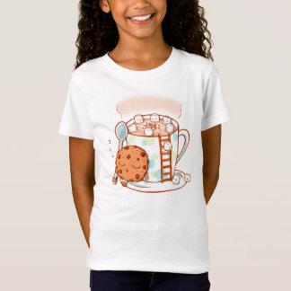 O chocolate quente caçoa a camisa da ilustração T
