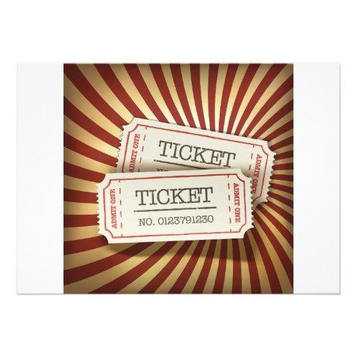 O cinema Tickets convites
