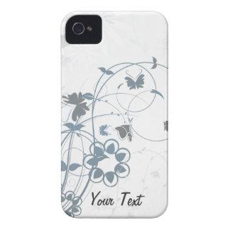 O cinza floresce a borboleta - personalize capinhas iPhone 4