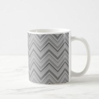 O cinza listra o teste padrão de ziguezague caneca de café