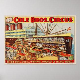 O circo de Bros do Cole retorna o poster Home