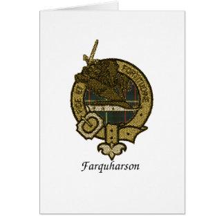 O clã de Farquharson Crest Cartoes