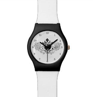 O Claddagh (preto) Relógio