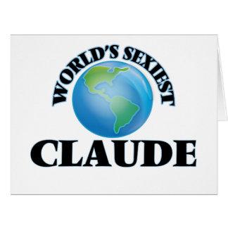 """O Claude o mais """"sexy"""" do mundo Cartões"""