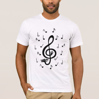 O clef de triplo musical do dragão nota a camisa