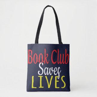 O clube de leitura salvar a sacola das vidas bolsa tote