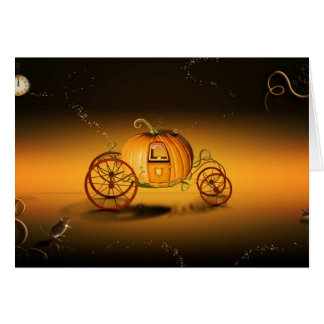 O coche de Halloween - Cartão Comemorativo