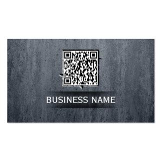 O código legal de QR encaixa o cartão de visita de