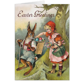 O coelhinho da Páscoa bávaro Eggs o cartão da