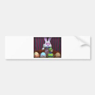 O coelhinho da Páscoa decora ovos Adesivo Para Carro