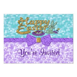 O coelho de felz pascoa convida convite 12.7 x 17.78cm