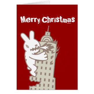 O coelho do monstro é cartão de Natal de vinda