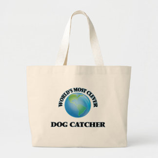O coletor de cão o mais inteligente do mundo sacola tote jumbo