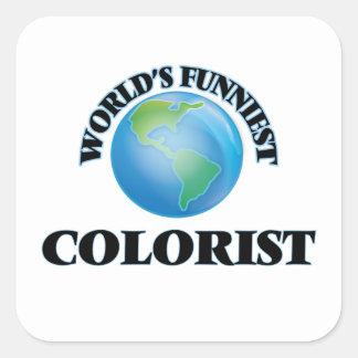 O Colorist o mais engraçado do mundo Adesivos Quadrados
