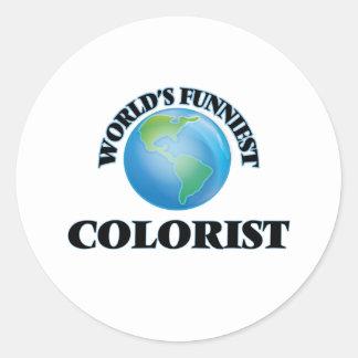 O Colorist o mais engraçado do mundo Adesivo Em Formato Redondo