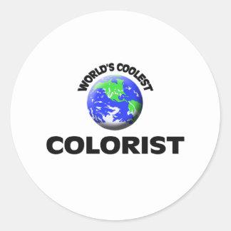 O Colorist o mais fresco do mundo Adesivo Em Formato Redondo