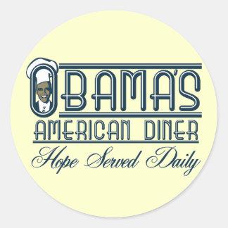 O comensal de Obama Adesivos Em Formato Redondos